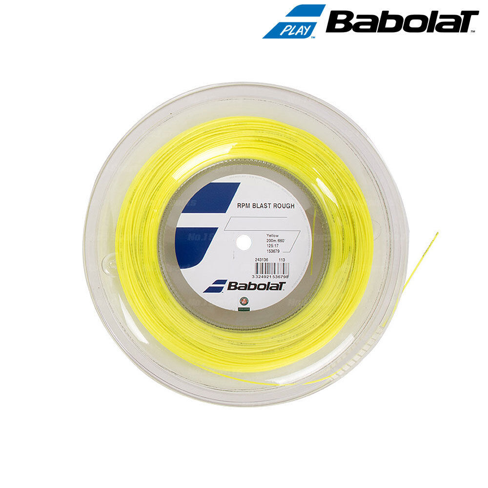 Babolat Rpm Blast áspero Cadena de Tenis 200 M 660 ft (approx. 201.17 m) 1.25 mm 1.30 mm Amarillo