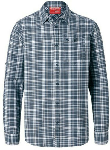 Craghoppers Mens Barmera Long Sleeved Check Shirt Ombre Blue