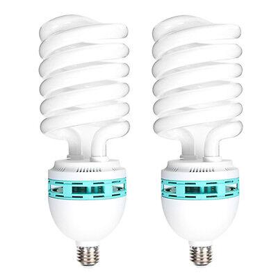 2x 125W 5400K 220V E27 Photography Photo Studio Day Light Fluorescent Bulbs Lamp
