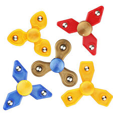 Mini Fidget Tri Hand Spinner Steel Ball Gyro EDC Finger Pocket Toys Focus Autism