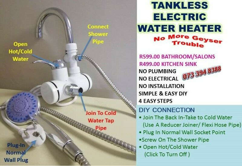 Tankless Electric Geysers