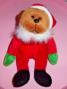 Vintage-March-Of-Dimes-Christmas-Teddy-Bear-Elf-1999-Santa-039-s-Helper-9-034
