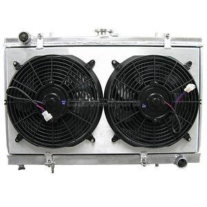 """12/"""" Fan For NISSAN 240SX SILVIA S14 S15 SR20//SR20DET MT 95-98 Aluminum Radiator"""