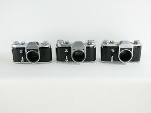 3x-Analogkamera-analogue-camera-SLR-VEB-Zeiss-Ikon-Pentacon-Contax-D-F