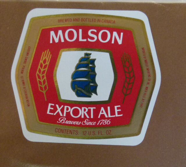 VINTAGE CANADIAN BEER LABEL - MOLSON BREWERY, EXPORT ALE 12 FL OZ #6