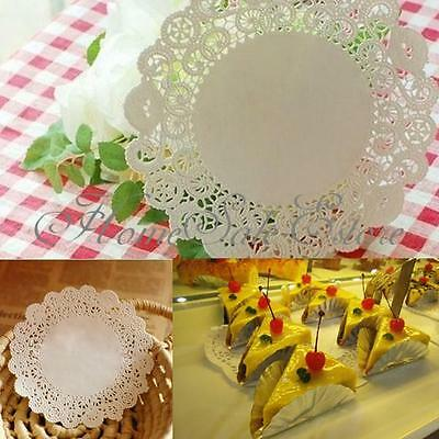 10/50 Paper Lace Doilies Wedding Party Decorations Round Cupcake Cake Doily 24cm