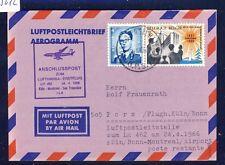 55612) LH FF Köln - Montreal 24.4.66, Aerogramm ab Belgien Feldpost in Dt.