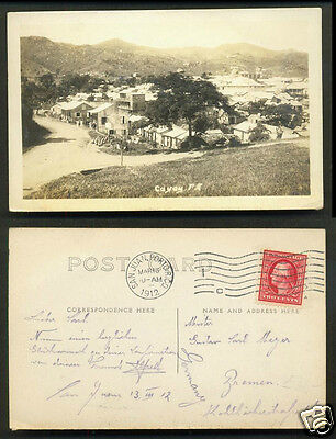 Puerto Rico photo postcard Cayey USA with stamp 1912