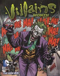 BATMAN THE JOKER VILLAINS MONTH RETAILER PROMOTIONAL CARD 2013
