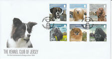 Jersey 2013 FDC Kennel Club 6v Set Cover Dogs Boxer Lhasa Apso Irish Setter