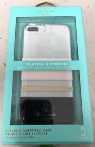 Details About New Kate Spade Ny Charlotte Stripe Blackcreamclear Case Iphone 8 Plus 7 Plus
