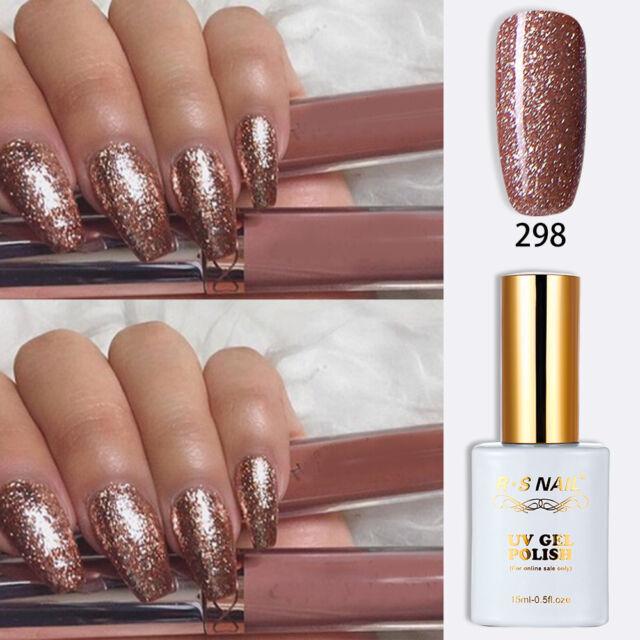 Rs Nail Uv Led Gel Polish Varnish Soak Off 0 5fl Oze Glitter Colour