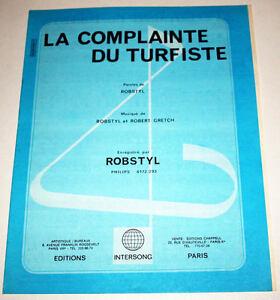Partition-vintage-sheet-music-ROBSTYL-La-Complainte-du-Turfiste-70-039-s-GRETCH