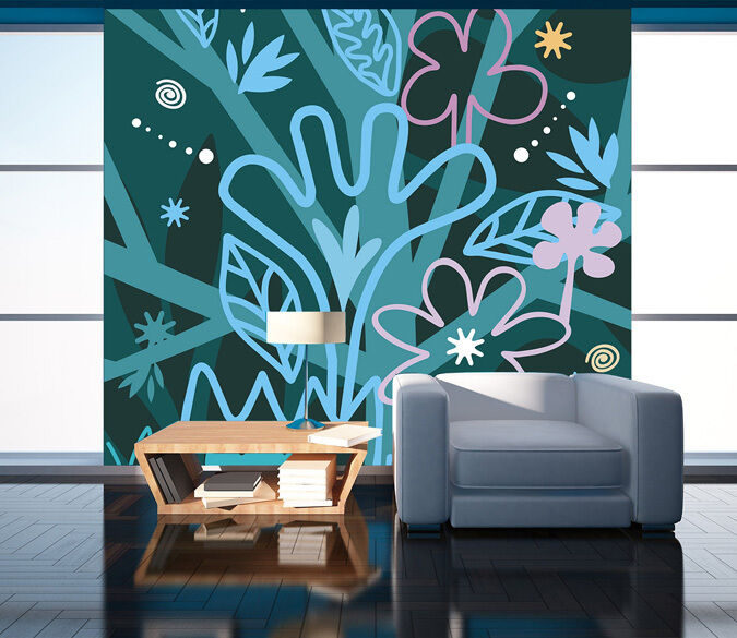 3D Various colorful Flowers 27 Wall Paper Wall Print Decal Wall AJ Wall Paper