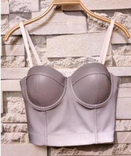 Fashion Mesh Push Up Bralet Women/'s Corset Bustier Bra Night Club Party Cropped