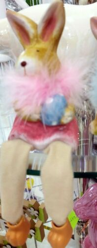 Osterhase Hase Ostern Kantenhocker Schlenkerbein rosa blau Neu Frühling