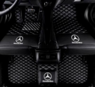 Custom Car Floor Mats for Mercedes Benz GLK Class 300 350 2008-2014 Full Coverage All Weather Protection Front /& Rear Liner Set Black
