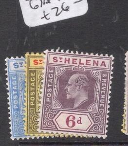 St Helena SG 64, 66, 67a MOG (5dlz)