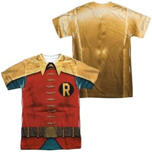 Authentic-DC-Batman-Classic-TV-Show-Robin-Costume-Uniform-Front-Back-T-shirt