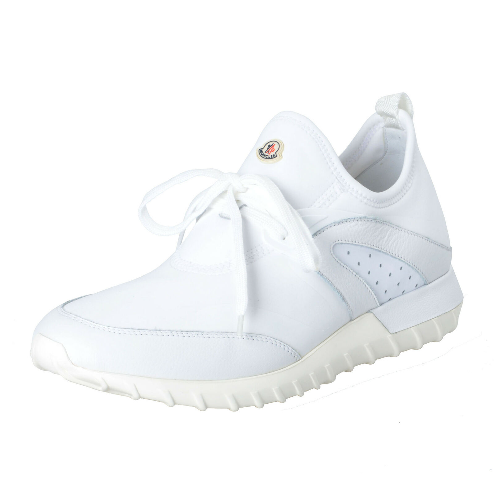 Moncler   Oricle   white Leder Leinen Mode Turnshoes Sz 10 10.5 13
