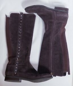 Marc-Fisher-Women-039-s-Secrit-Medium-Calf-Suede-Tall-Shaft-Boot-Size-11M-Brown