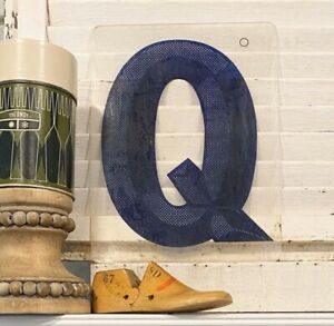 Vintage-Acrylic-Marquee-Letter-Q-Sign-Plastic-Display-Retro-Industrial-Decor