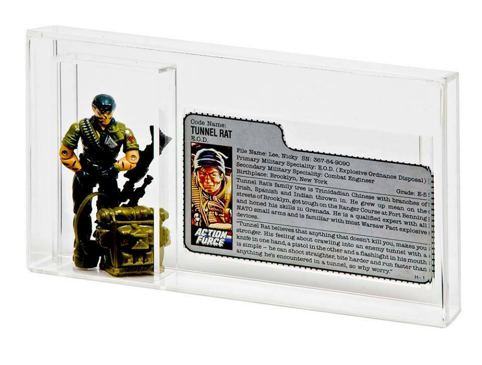 2 x GW Acrylic Display Case - GI Joe Figure + File Card (AFC-017)