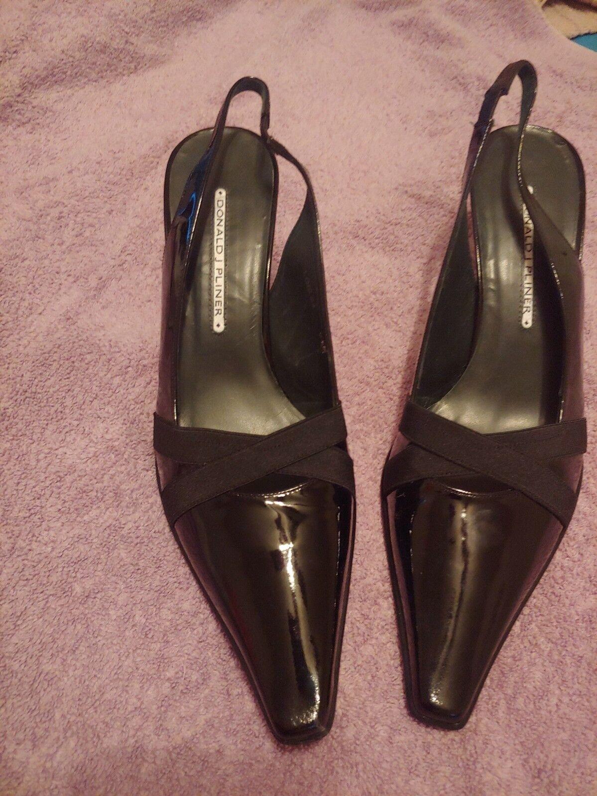 Donald Pliner black black black Slingback Heels Womens Sz 9.5 M e3f12e