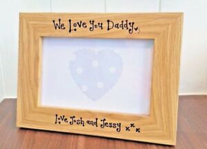 We Love You Daddy Dad Fathers Day Photo Frame