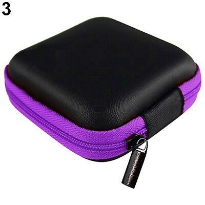 Mini Pocket Hard Case Handy Zipper Storage Bag For Earphone Earbuds SD Card