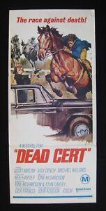 DEAD-CERT-1974-Rare-Australian-daybill-movie-poster-Judi-Dench-horse-racing