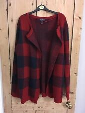 Long Tall Sally Red Check Coatigan Size XS