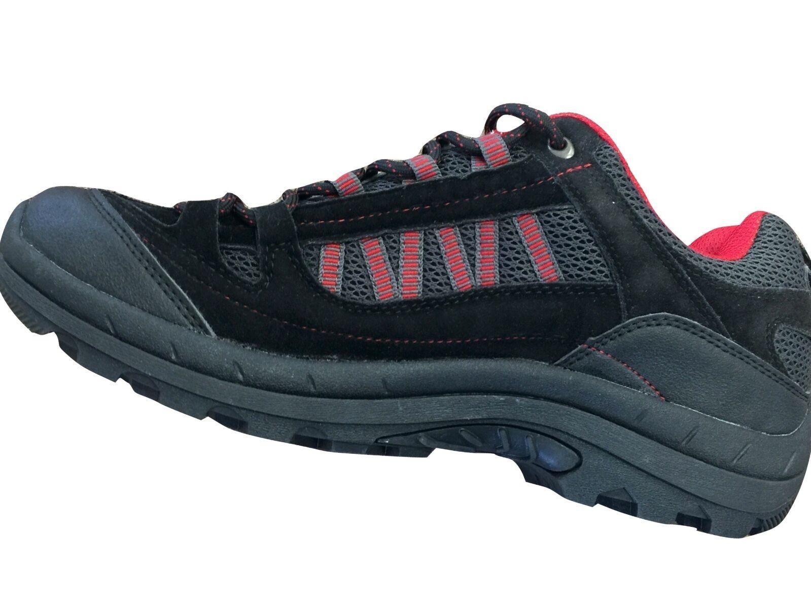 Men's Sz 10 M MEDIUM D CLIMATE Hiking/Walking BLACK Suede Leather Shoes