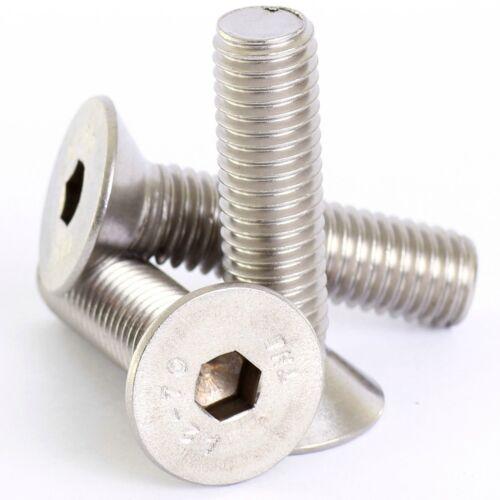 2mm M2 A2 STAINLESS COUNTERSUNK CSK SOCKET SCREW ALLEN KEY BOLTS SCREWS DIN 7991