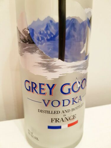 Grey Goose Original Vodka 70cl Upcycled Bottle Table Lamp Mancave Gift Light