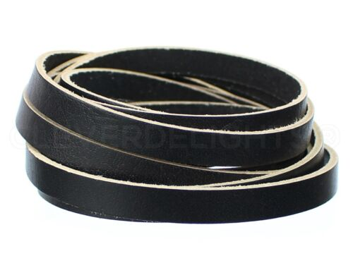 "5oz Premium Cowhide Strip Black 30 Feet 3//8/""  Genuine Leather Strap"
