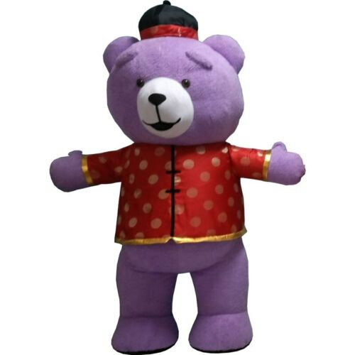 Inflatable Teddy Bear Mascot Costume Suit Cosplay Party Game Dress Outfit Adults