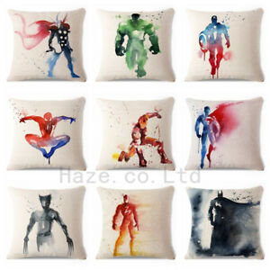 Decoratif-Throw-Pillow-Case-Marvel-Superhero-Comic-Coussin-Couverture-18-034-x18-034