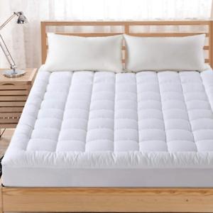 Pillow Top Mattress Cover Queen Size Bed Topper Warm Soft