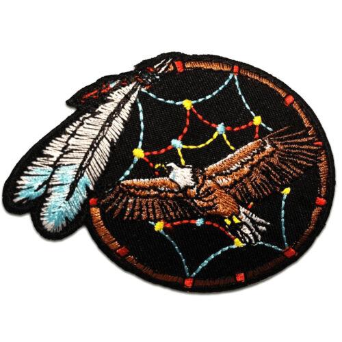 braun Indianischer Adler Traumfänger 7.5 x 9.0 cm Aufnäher // Bügelbild