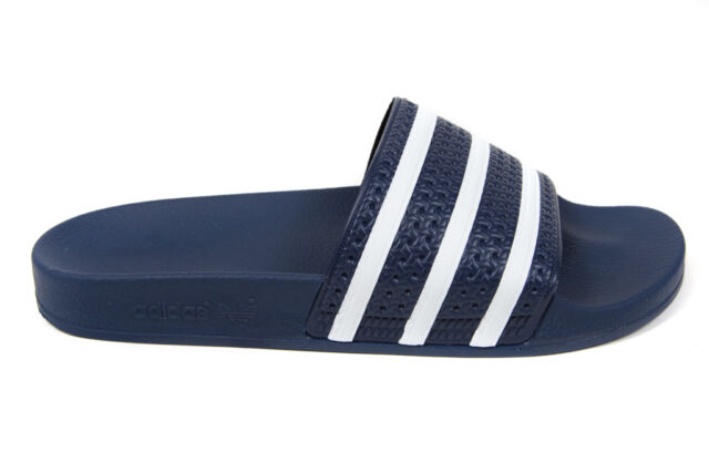 bf69476ac7d1 adidas Adilette Mens Navy Blue White Sandals Slides Slippers Size 12 ...