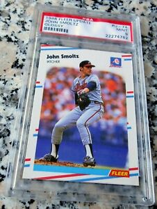JOHN SMOLTZ 1988 Fleer Update GLOSSY SP Rookie RC PSA 9 MINT Braves HOF RARE