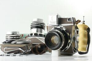 Super-Rare-Set-Linhof-Technika-Press-6x9-w-53mm-100mm-180mm-Lens-from-JAPAN