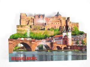 Heidelberg Château Pont Bois Souvenir Magnétique, Germany Allemagne, Neuf-ufr-fr Afficher Le Titre D'origine
