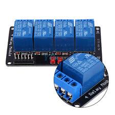 Nuovo 5V Modulo Scheda Relè 4 Canale Optocoupler Per Arduino AVR ARM 250V 10A