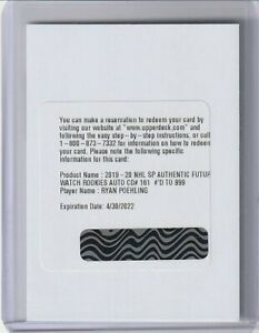 2019-20-SP-AUTHENTIC-RYAN-POEHLING-AUTO-RC-FUTURE-WATCH-REDEMPTION-999