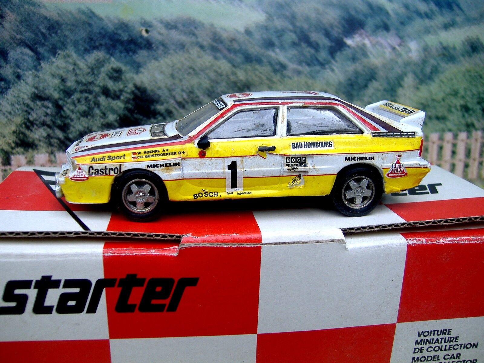 1 43 Starter (France) Audi Quattro Rally Monte Carlo 1984  Resin  Car