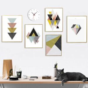 Details About Modern Diy Watercolor Abstract Canvas Painting Wall Pictures Art Print Poster