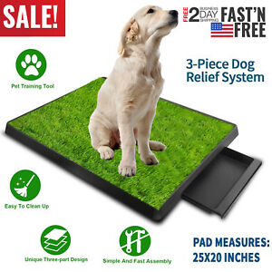 Pet-Potty-Trainer-Grass-Mat-Dog-Puppy-Training-Pee-Patch-Pad-In-amp-Outdoor-Toilet
