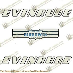 Evinrude-1952-7-5hp-Fleetwin-Outboard-Decal-Kit-3M-Marine-Grade